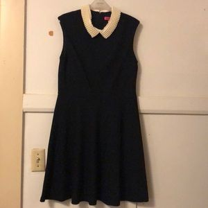 Betsey Johnson fit flare pearl collar dress